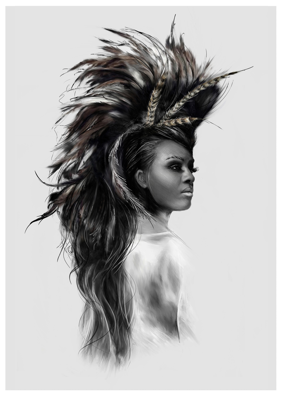 Linn Wold Print- African Queen A3