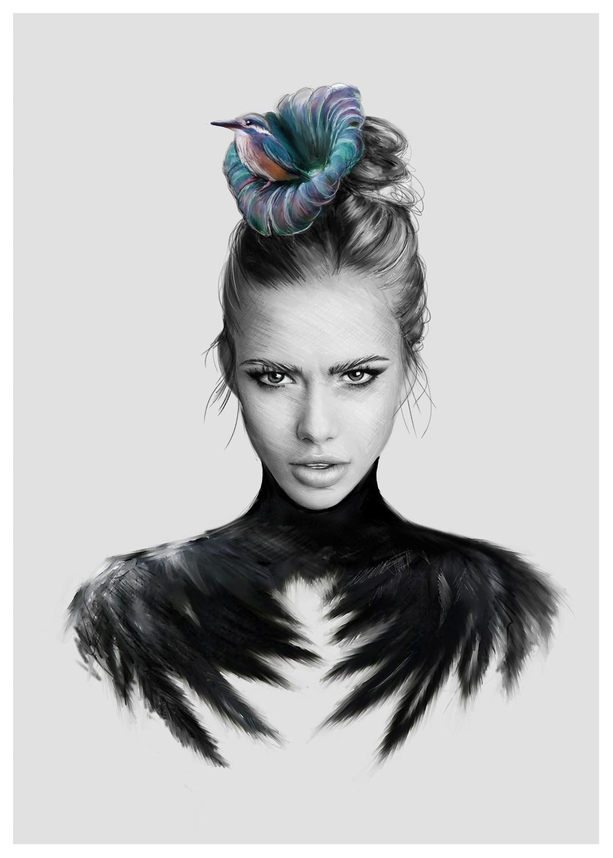 Linn Wold Print- Humming Bird A3
